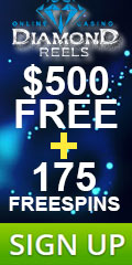 $500 Free + 175 Free Spins Welcome Bonus At Diamond Reels