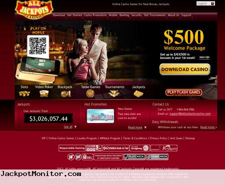 All Jackpots Casino Screenshot