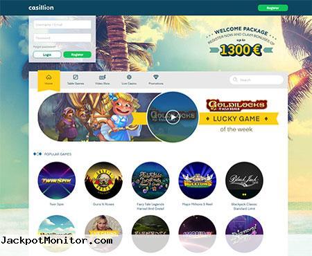Casillion Casino Screenshot