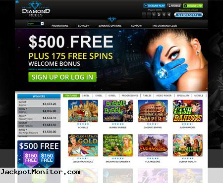 Diamond Reels Online Casino Screenshot