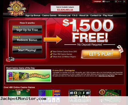 Golden Tiger Casino Screenshot
