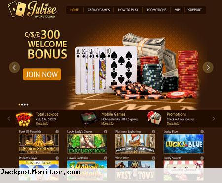 Jubise Online Casino Screenshot