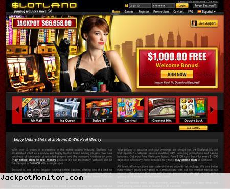 Slotland Casino Screenshot