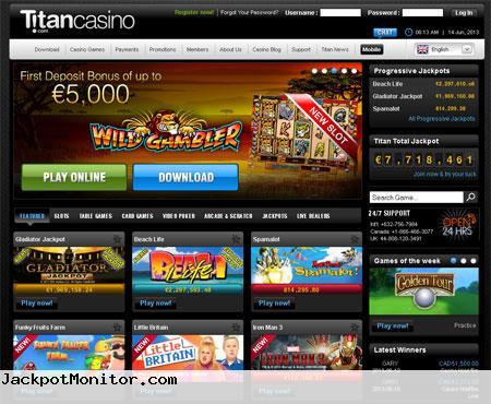 Titan Casino Screenshot
