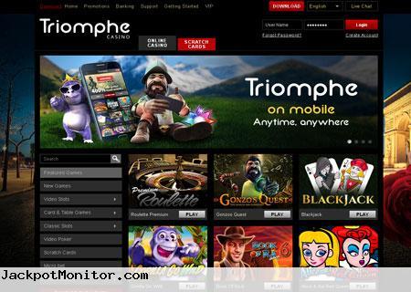 Triomphe Casino Screenshot