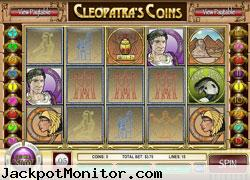 Cleopatras Coins slot machine