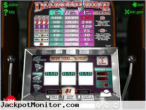 Diamond Mine Deluxe slot machine