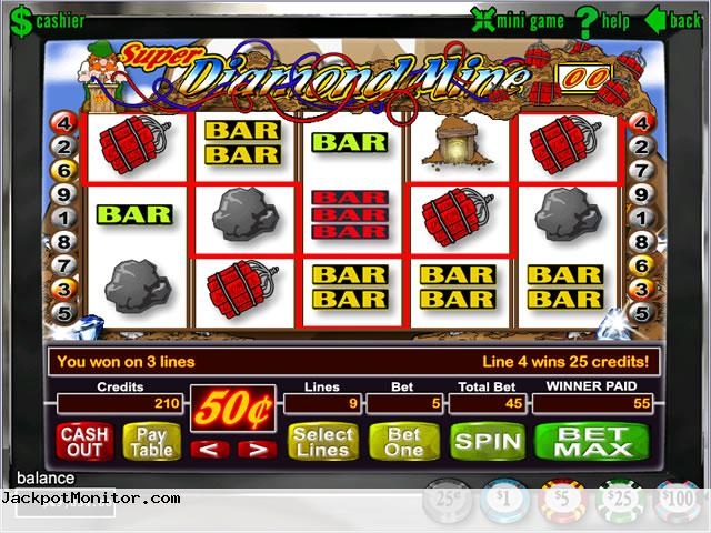 Super Diamond Mine slot machine