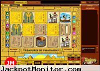 Treasures of Pharaohs Video slot machine